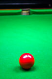 Red billiard ball Stock Image