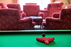 Red billiard balls Royalty Free Stock Images