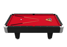 Red Billiard Table Stock Image