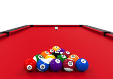 Red Billiard Table Royalty Free Stock Photos