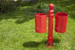 Red bin Stock Images