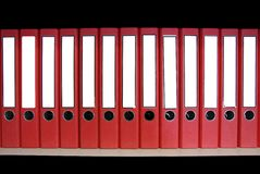 Red binder Stock Image