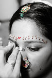 Red Bindi Royalty Free Stock Image