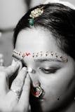 Red Bindi Royalty Free Stock Image