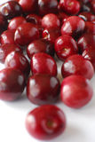 Red Bing Cherries. Red sweet Bing cherries on white background Royalty Free Stock Photography