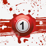 Red bingo ball over abstract grounge background Stock Images