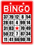 Red bingo card stock illustration