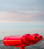 Red binocular Royalty Free Stock Image