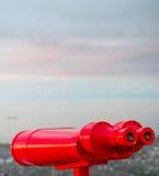 Red binocular Royalty Free Stock Image