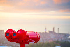 Red binocular Royalty Free Stock Photography
