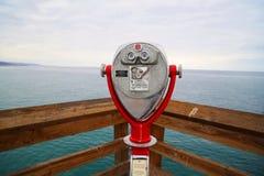 Red Binoculars on Balboa Island Royalty Free Stock Photos