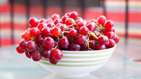 Red bio grapes. Fresh fruits Stock Images