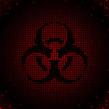Red biohazard background Stock Photos