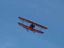 Red Biplane Royalty Free Stock Photography