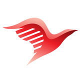 Red Bird Icon Royalty Free Stock Photo