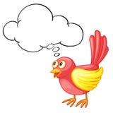 Red bird thinking Stock Photo