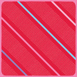 Red birthday background vector. With stripes stock illustration
