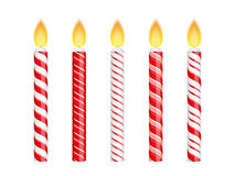 Red Birthday Candles Stock Images