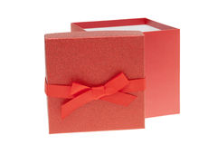 Red Birthday Gift Box isolated Stock Photos