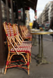 Red bistro chair in Paris Royalty Free Stock Photo