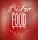 Red Bistro Poster sign text banner Stock Image