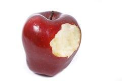 Red bitten apple Royalty Free Stock Photo
