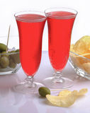 Red bitter italian aperitif Royalty Free Stock Images