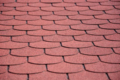 Red bitumen shingles Royalty Free Stock Photos