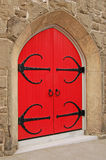 Red and Black. From a red door with black details Royalty Free Stock Photography