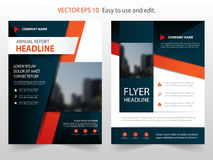 Red black abstract annual report Brochure design template vector. Business Flyers infographic magazine poster.Abstract layout Royalty Free Stock Photo