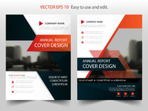 Red black abstract annual report Brochure design template vector. Business Flyers infographic magazine poster.Abstract layout Stock Images
