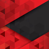 Red and black abstract background vector. Stock Photo