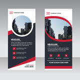 Red black abstract Business Roll Up Banner flat design template Royalty Free Stock Images