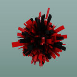 Red  black Abstract  crystallized background Royalty Free Stock Image