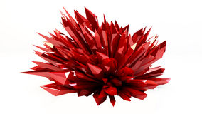 Red  black Abstract  crystallized background Royalty Free Stock Images