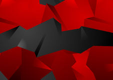 Red and black abstract 3d polygonal shapes. Vector modern background Royalty Free Stock Images