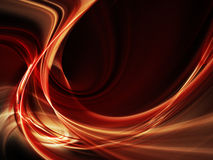 Red on black abstract frame element Royalty Free Stock Image