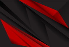 Red and Black abstract layer geometric background Stock Photography