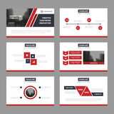Red black Abstract presentation templates, Infographic elements template flat design set for annual report brochure flyer leaflet Stock Image