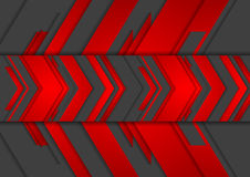 Red and black abstract tech arrows background. Vector technology design vector illustration