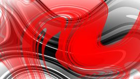 Red and black abstract vector shaded wavy background wallpaper. vivid color vector illustration. Stock Photography