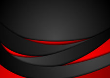 Red and black abstract wavy corporate background Stock Photography