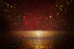Free Red, Black And Gold Glitter Vintage Lights Background. Defocused. Stock Photos - 125094473