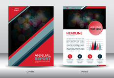 Red and black Annual report template and info graphics elements, Stock Image