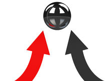 Red and black arrows Stock Photography