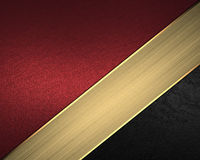 Red and black background with gold ribbon. Element for design. Template for design. Stock Photos