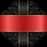Red black. Red and black background with ornaments Stock Image