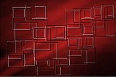 Red and Black Background with Square Shapes Stock Image