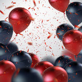 Red And Black Balloon Bunch. Royalty Free Stock Images