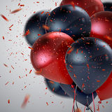 Red And Black Balloon Bunch. Royalty Free Stock Photo